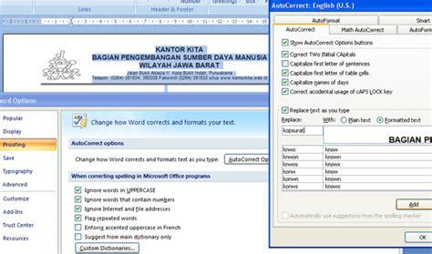 software membuat kop surat buat kop surat dengan autocorrect kantorkita net