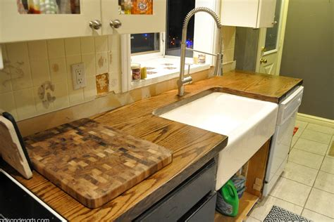 diy custom wood countertops artisan des arts diy wood door butcher block countertops