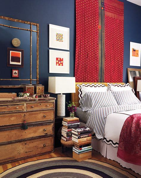 red white  blue interior design