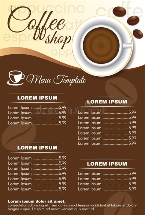 banner design coffee shop restaurant menu stock vector 699560560 brown coffee shop menu order vector design stock vector