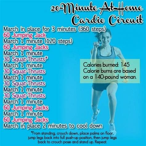 8 best a home cardio workout images on