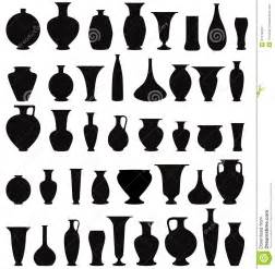 Beer Bottle Vase Vase Silhouette Set Interior Decor Collection Stock