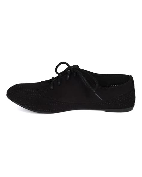 qupid oxford shoes shoes qupid cc42 suede perforated toe lace up