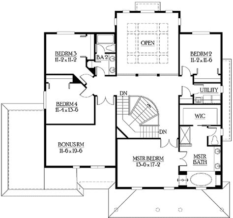 mission style in two versions 36346tx 2nd floor master suite butler walk in pantry cad large covered porch perfect for relaxing 23135jd 2nd