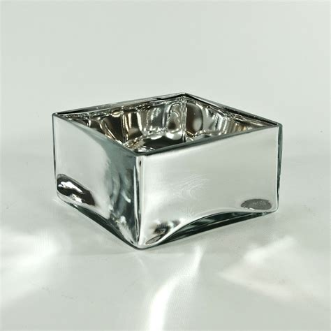 mirrored glass square vases discount glass squares