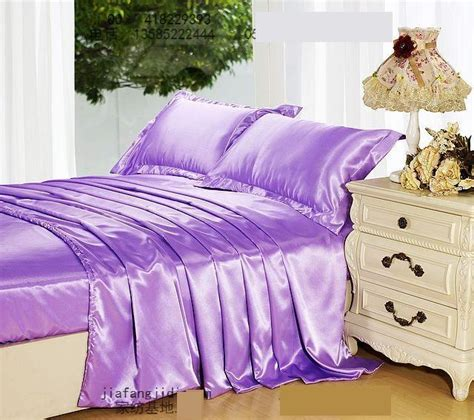 My Bed Cover Set Rumbai King 180x200cm Tinggi 30cm Motif Royal light purple mauve lilac silk bedding set king size quilt duvet cover bed in a bag sheet