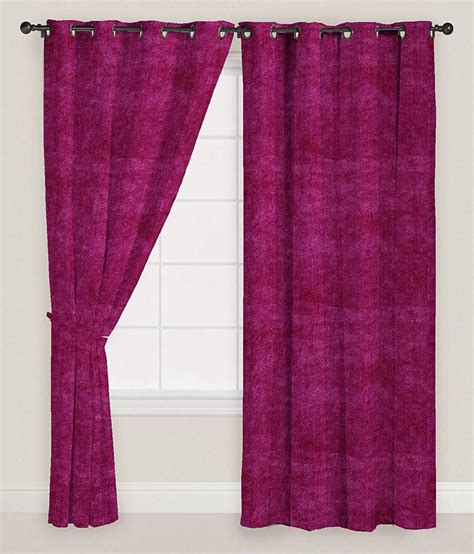Pink Velvet Curtains Presto Pink Colour Solid Velvet Window Curtain Buy Presto Pink Colour Solid Velvet Window