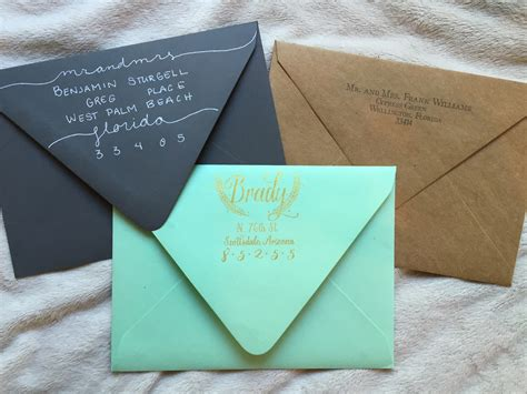 etiquette addressing envelopes