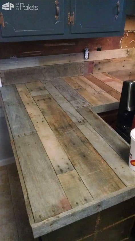 pallet countertops backsplash 1001 pallets