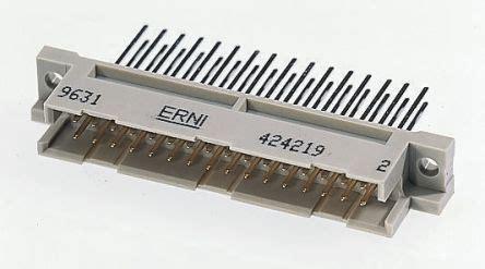004.484   erni 48 way 2.54mm pitch, 3 row, straight din