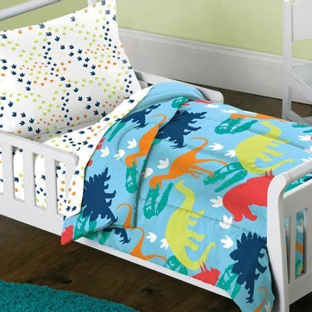 dream factory bedding dream factory dinosaur 4 piece toddler mini bed in a bag