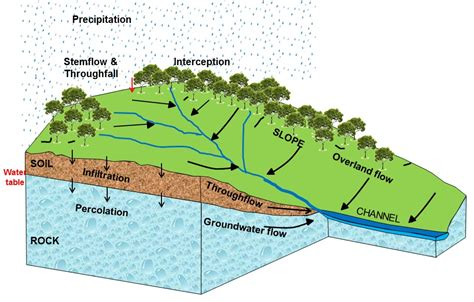 drainage basin system diagram drainage basins