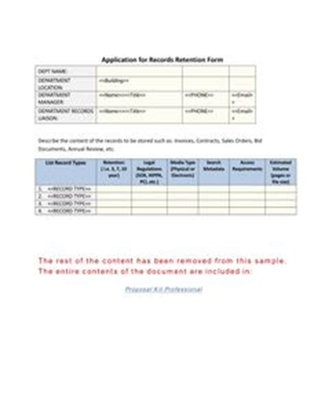 retention schedule template 1000 images about records management toolkit on