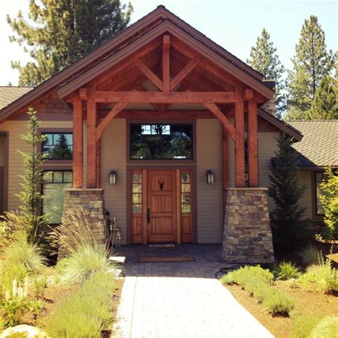 home entrances timber frame home love the front entrance way if