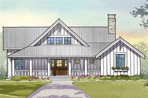 modern farmhouse elevations farmhouse 3 beds 3 5 baths 2597 sq ft plan 901 110 front