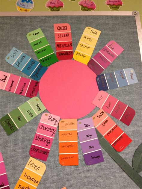 Synonyms For Garden by Synonym Garden Using Paint Strips Such A Idea For