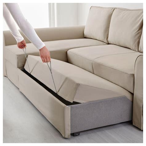 ikea divani backabro sofa bed with chaise longue ramna beige ikea