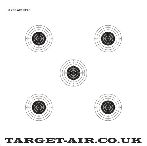 printable shooting targets uk 6 yards air rifle nsra practice shooting targets