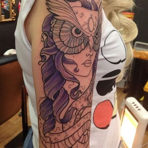 tattoo athena owl stunning athena tattoo owl tattoos pinterest