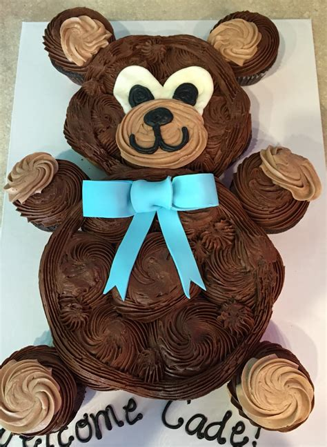 Teddy Baby Shower Cake Ideas by Teddy Cupcake Cake Baby Shower Caked