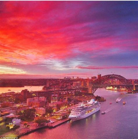 05 Set Sunset Pink Muda sydneysiders witness stunning sunset as instagram users capture amazing photos daily mail