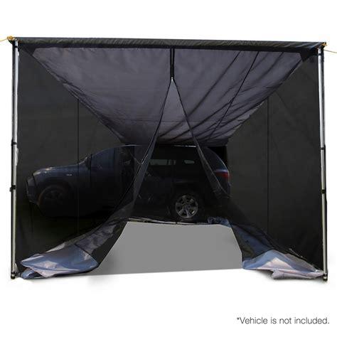 Cer Awnings Ebay by 2 5x3m Car Awning Mesh Screen Grey Ebay