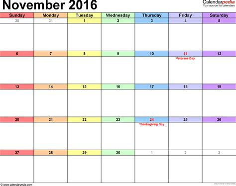 free printable wall planner 2016 nz november 2016 calendars for word excel pdf