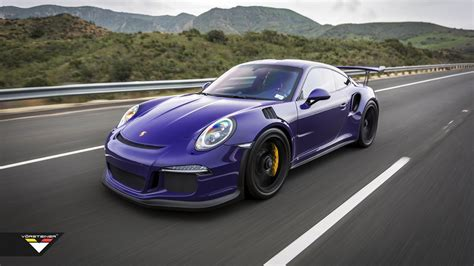 purple porsche 911 purple beast vorsteiner goes to town on porsche 911 gt3