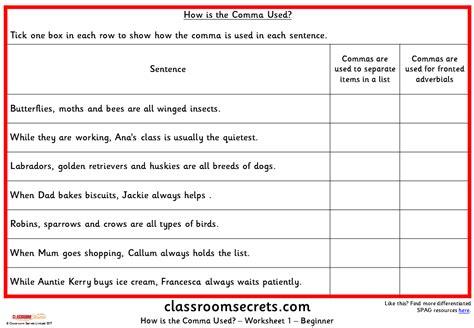 commas lessons tes teach