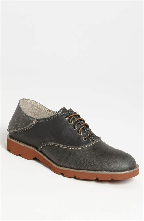 saddle shoes sperry top sider herringbone saddle shoe in gray for