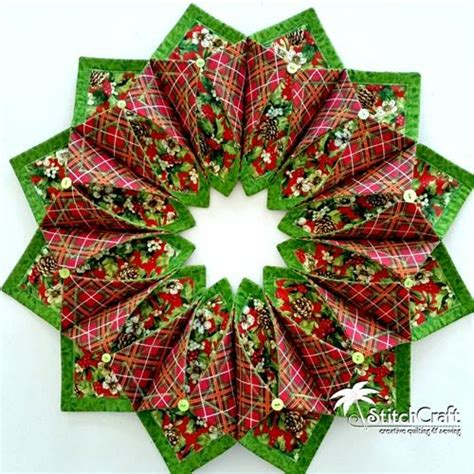 pattern for fabric wreath love this fold n stitch wreath pattern from poorhouse