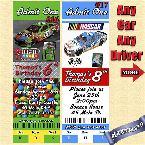 printable nascar birthday invitations nascar birthday invitations you print diy personalized
