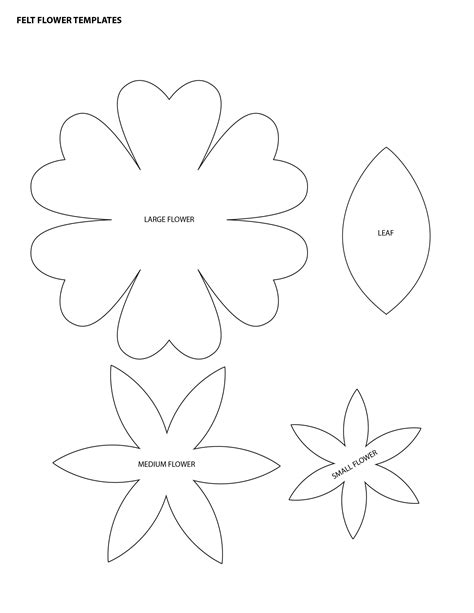 free printable flower stencil templates flower templates for felt search templates