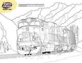 free coloring pages train crossing