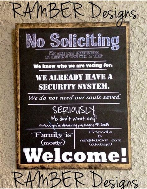 no soliciting sign custom to your sayings by ramberdesigns