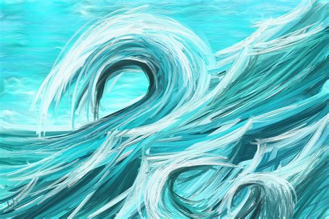 Home Decor Designs Interior waves collision abstract wave paintings painting by