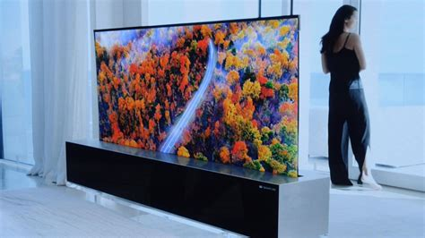 lgs rollable oled tv  action  ces  video cnet