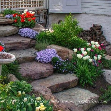 rustic backyard rustic garden steps traditional landscape new york by summerset gardens joe weuste