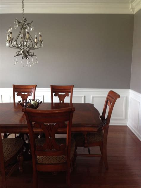 sherwin williams  pewter cast  house   middle   street dining room paint