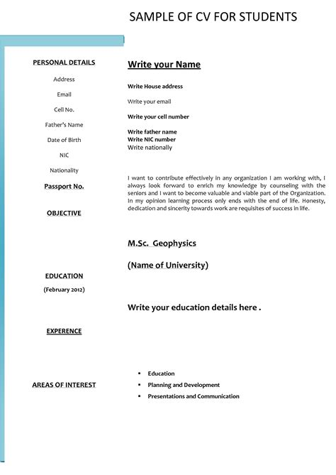 Download Format Of Resume The Most Student Resume Format Download Student Resume