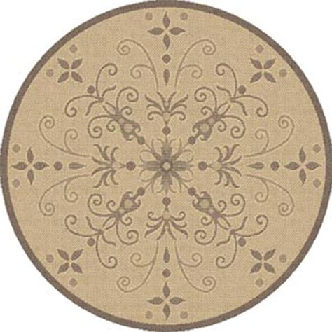 brown circle rug dynamic rugs piazza 5 3 rug brown