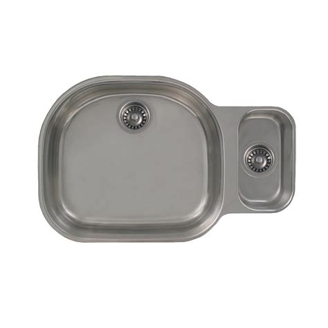 Whitehaus Kitchen Sinks Whitehaus Collection Devonhaus All In One Undermount Stainless Steel 32 In Bowl Kitchen