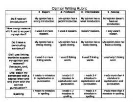 Opinion Essay Rubric 6th Grade by Opinion Writing Rubric Common Vandy Third Grade