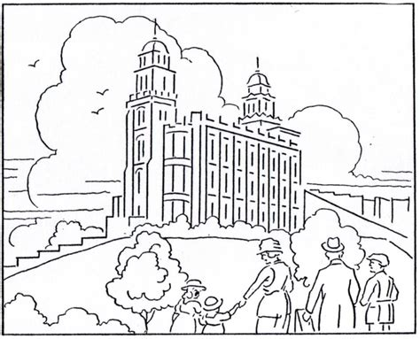 at the temple coloring pages temple coloring page lds lesson ideas