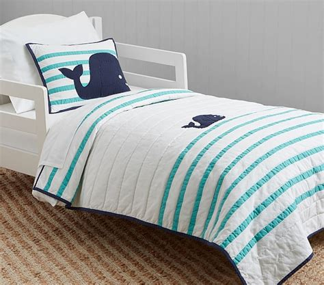 toddler bedding htons whale toddler bedding pottery barn