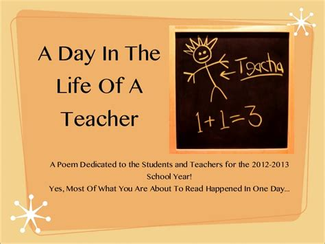 the life of a a day in the life of a teacher
