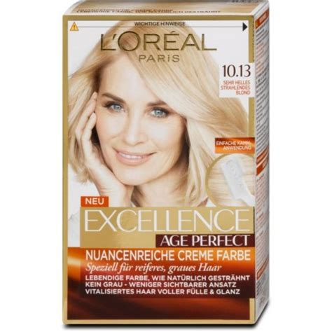 loreal farbe dm l or 233 al excellence age perfect creme farbe nr 10 13