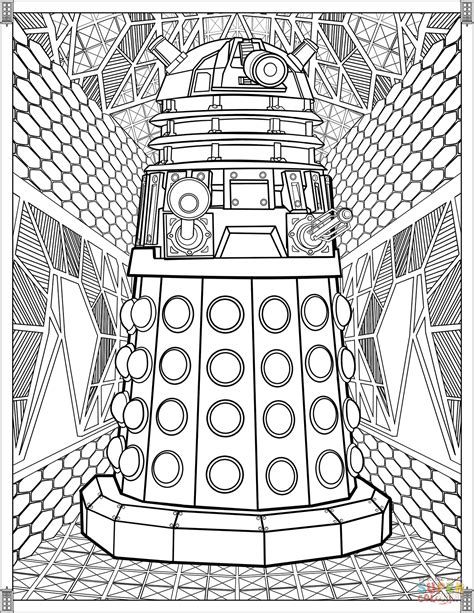 doctor who coloring pages dalek coloring page free printable coloring pages