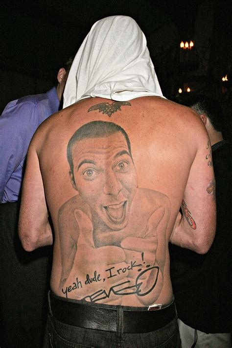 steve o tattoo miley cyrus justin bieber and 9 other with
