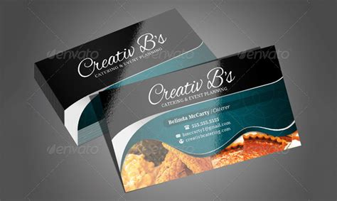 catering card template 25 business cards for chefs free premium templates